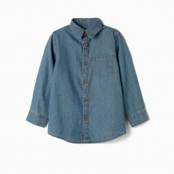 BOY'S DENIM SHIRT, BLUE