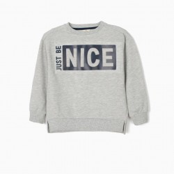 NICE SWEATSHIRT FOR BOYS, GRAY