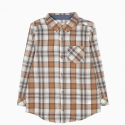 CHECKERED SHIRT WITH BEIGE POCKET