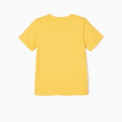T-SHIRT FOR BOY 'SUNNY DAYS', YELLOW