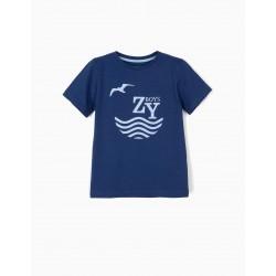 T-SHIRT FOR BOY 'ZY BOYS', BLUE