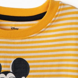 T-SHIRT FOR BOY 'MICKEY', WHITE AND YELLOW