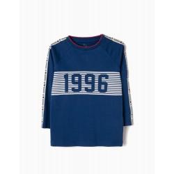LONG-SLEEVE TOP FOR BOYS 'ZY 96', BLUE