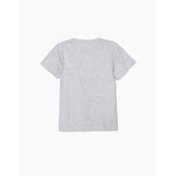'BEST HUMAN' T-SHIRT FOR BOY, GRAY