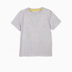2 T-SHIRTS FOR BOYS 'CHANGE THE WORLD', YELLOW AND GRAY