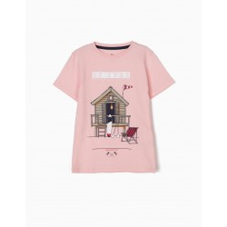 ENGLAND SOUTH COAST T-SHIRT FOR BOYS, PINK