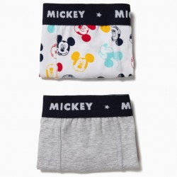 PACK 2 BOXERS FOR BOYS 'MICKEY', GRAY AND WHITE