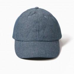 QUILTED DENIM CAP