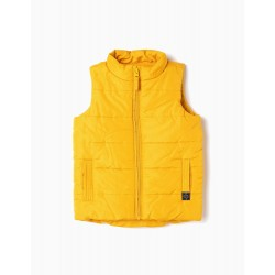 PADDED VEST FOR BOYS, YELLOW