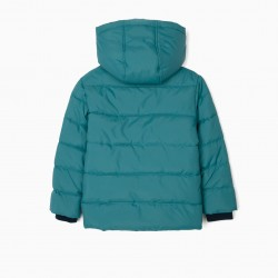 QUILTED JACKET FOR BOYS, BLUE