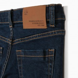 BOYS 'SLIM FIT' JEANS, DARK BLUE