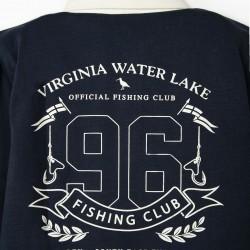 LONG SLEEVE POLO FOR BOYS 'FISHING CLUB', DARK BLUE