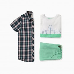 BOY SET 'PLANT TREES', BLUE AND GREEN
