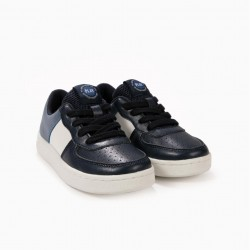 BOYS 'PLAY' SHOES, BLUE AND WHITE