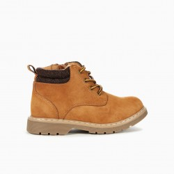 MOUNTAIN BOOTS FOR BOYS, CAMEL