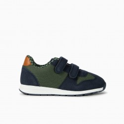 COMBINED TRAINERS FOR BOYS 'ZY', BLUE AND GREEN