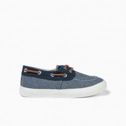 FABRIC SHOES FOR BOYS, BLUE
