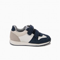 BOYS 'ZY 1996' SHOES WITH DOUBLE VELCRO, BLUE