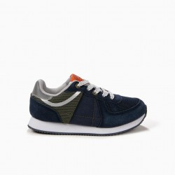 COMBINED SHOES FOR BOYS, BLUE AND GREEN