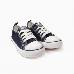 '50'S SNEAKER' KIDS' LACE-UP SHOES, DARK BLUE