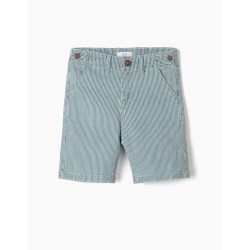 STRIPED SHORTS FOR BOYS, BLUE