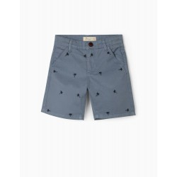 BOYS 'PALM TREE' SHORTS, BLUE