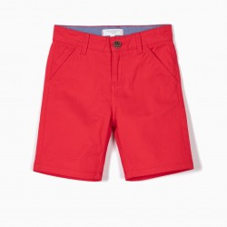 B&S CHINO BOY SHORTS, RED