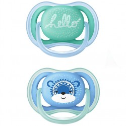PHILIPS / AVENT 2UN ULTRA 6-18 SILICONE PACIFIER