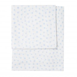 BED SHEETS 120X60CM ALLOVER STARS ZY BABY 3 PIECES