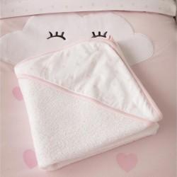 HEARTS ZY BABY BATH TOWEL