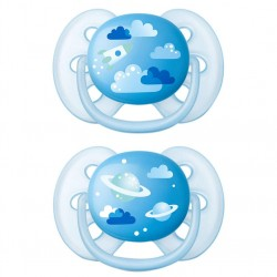 DECORATED ULTRA SOFT PACIFIER 6-18M PHILIPS AVENT