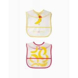 WATERPROOF BIB WITH POCKET ZY BABY 2UN.