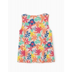 FLORAL TOP FOR GIRLS, WHITE