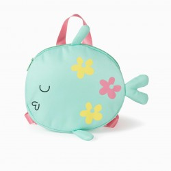 'FISH' GIRL BACKPACK, GREEN / PINK