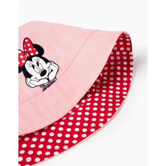 REVERSIBLE HAT FOR BABY GIRL 'MINNIE', PINK