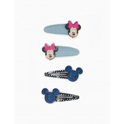 4 HOOKS FOR GIRL AND BABY GIRL 'MINNIE', DARK BLUE