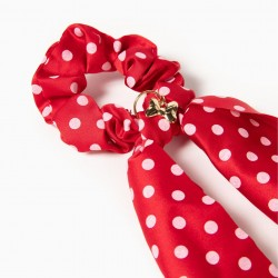 SCRUNCHIE ELASTIC FOR GIRL 'MINNIE', RED