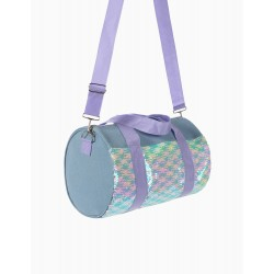 GIRLS SPORTS BAG WITH SEQUINS, BLUE / LILAC