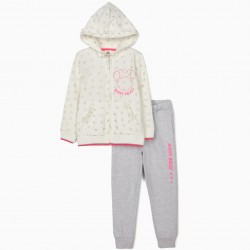 MINNIE GALAXY' TRACKSUIT FOR GIRLS, WHITE / GRAY