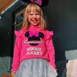 MINNIE PLANET GIRL HOODED SWEATSHIRT, PINK