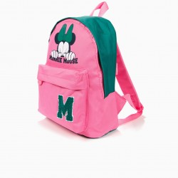 BACKPACK MINNIE MOUSE PINK AND GREEN