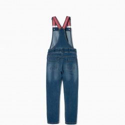DENIM OVERALLS FOR GIRLS 'MINNIE', BLUE