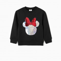 'MINNIE' GIRL SWEATSHIRT, BLACK
