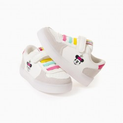 'MINNIE' BABY GIRL SNEAKERS WITH LIGHTS, WHITE