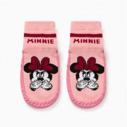 'MINNIE' GIRL SLIPPER SOCKS, PINK