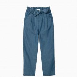 GIRL'S DENIM PANTS, BLUE