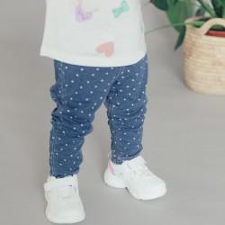 DENIM JEGGINGS FOR BABY GIRL 'HEARTS', BLUE