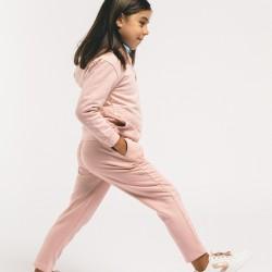 'LEAVES' TRACKSUIT FOR GIRLS, LIGHT PINK
