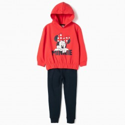 GIRLS 'MINNIE' TRACKSUIT, RED AND BLUE