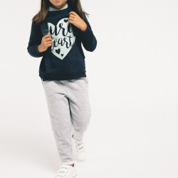 'PURE HEART' TRACKSUIT FOR GIRLS, DARK BLUE / GRAY €
